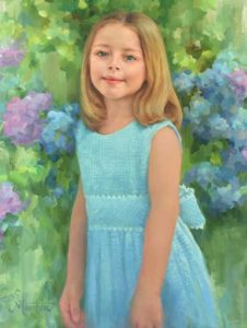 Amelia – Child Portrait in Oil