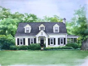 Lancaster Home in Pen and Watercolor