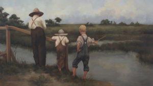 Marsh Fishing – Custom Oil Painting