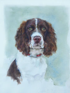 Milledge – Canine Watercolor Portrait