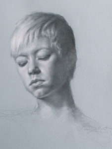 Victoria – Adult Portrait in Graphite and Pastels