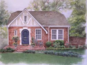 Charlotte Home in Pen and Watercolor