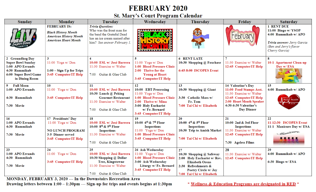 Feb Cal 2020