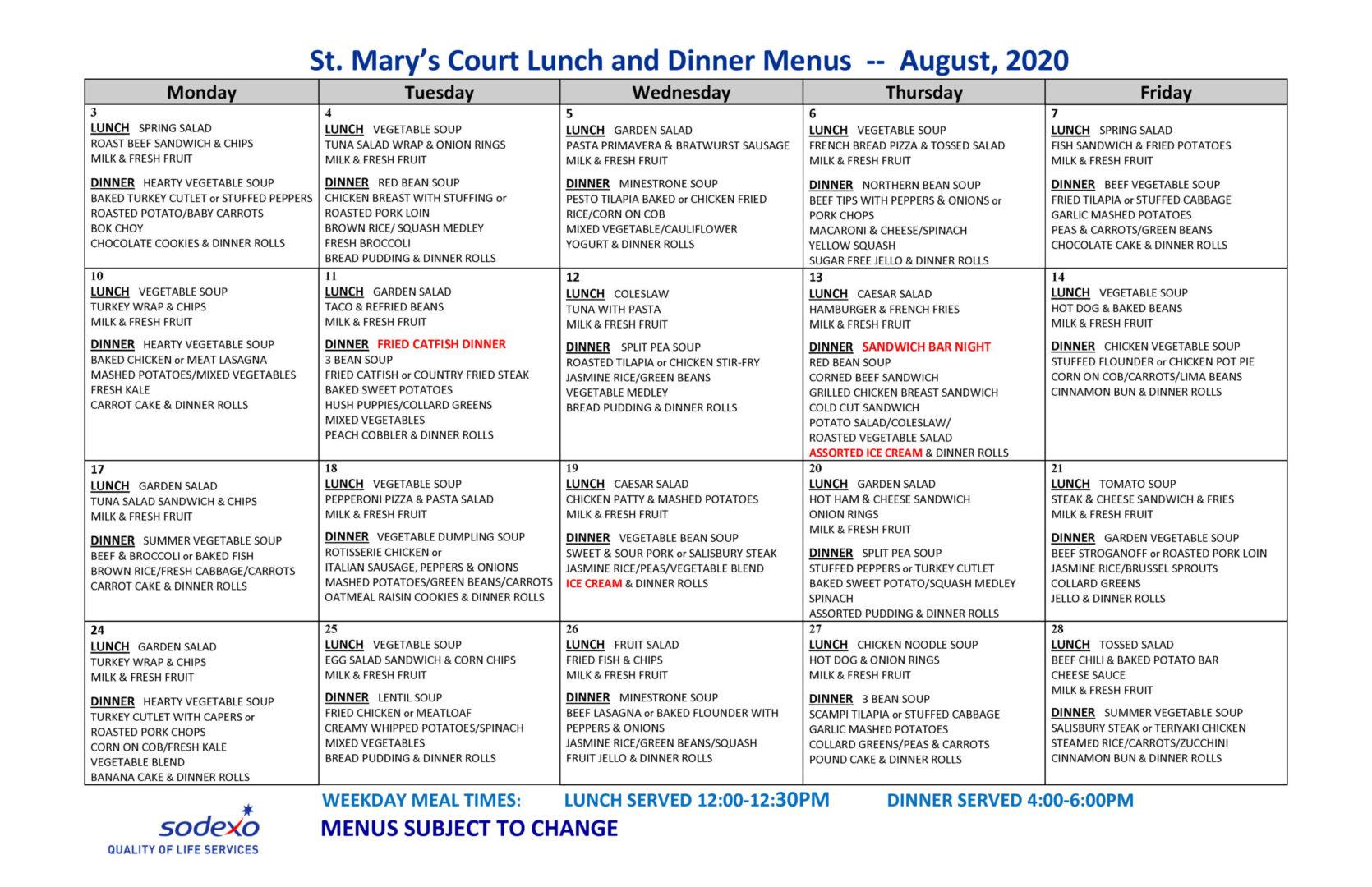 August-menus 2020