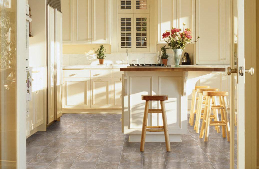 Traditional Vinyl Tile in Kitchen