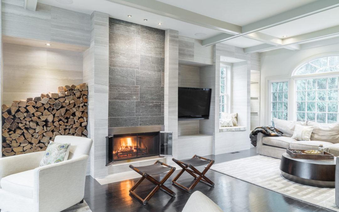 Living Room with Tile Details