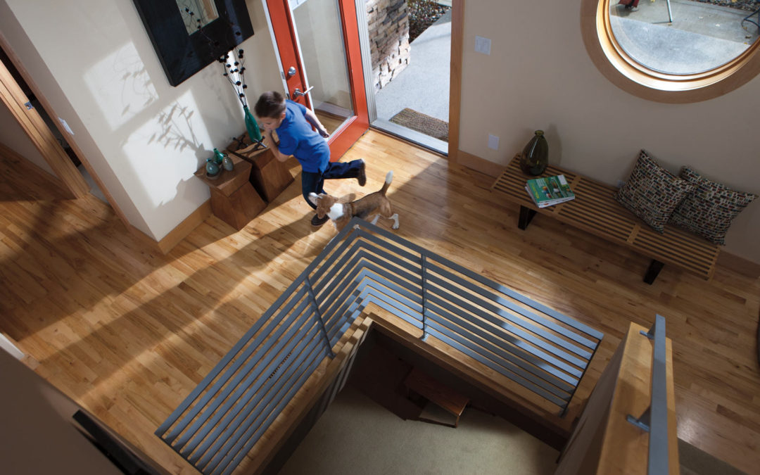 Hardwood Floor Home Entrance