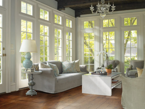 Hardwood Floors in Rustic Livingroom