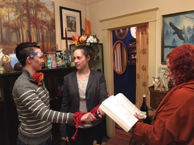 Susan's First Handfasting, December 2016