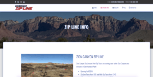 Zion Canyon Zip Line Information