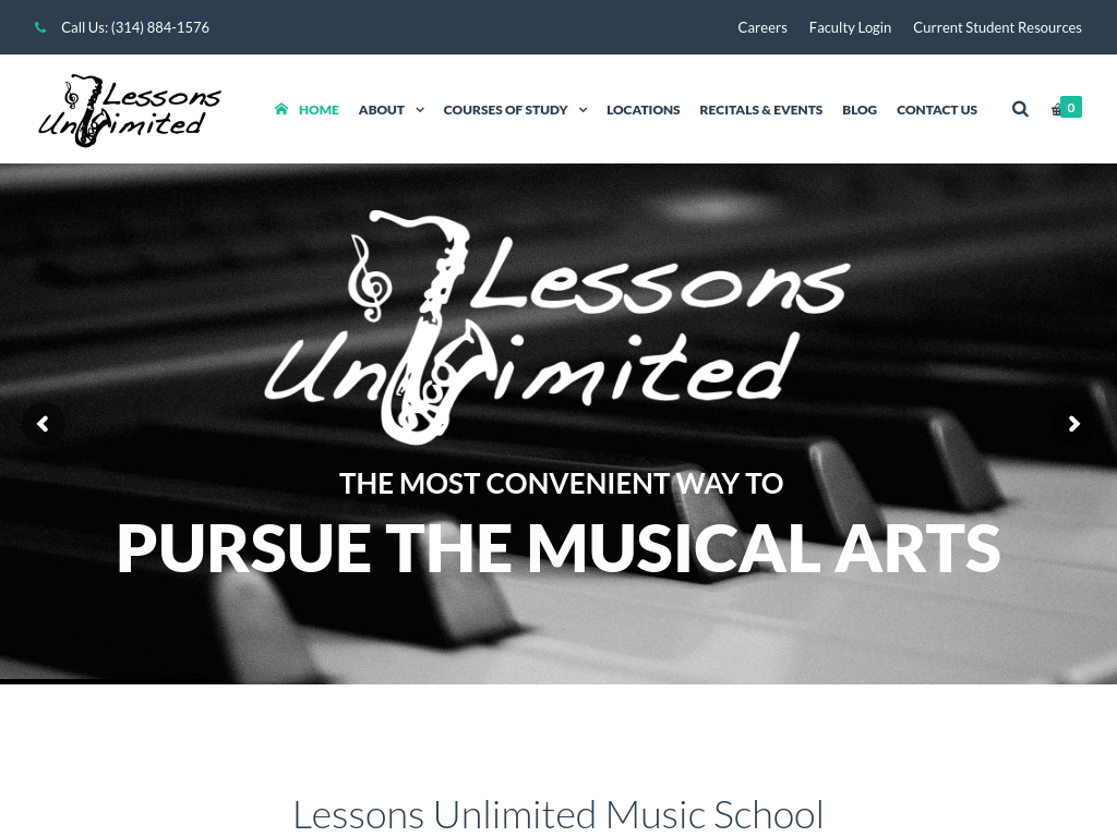 Lessons Unlimited Full Website Screen Capture