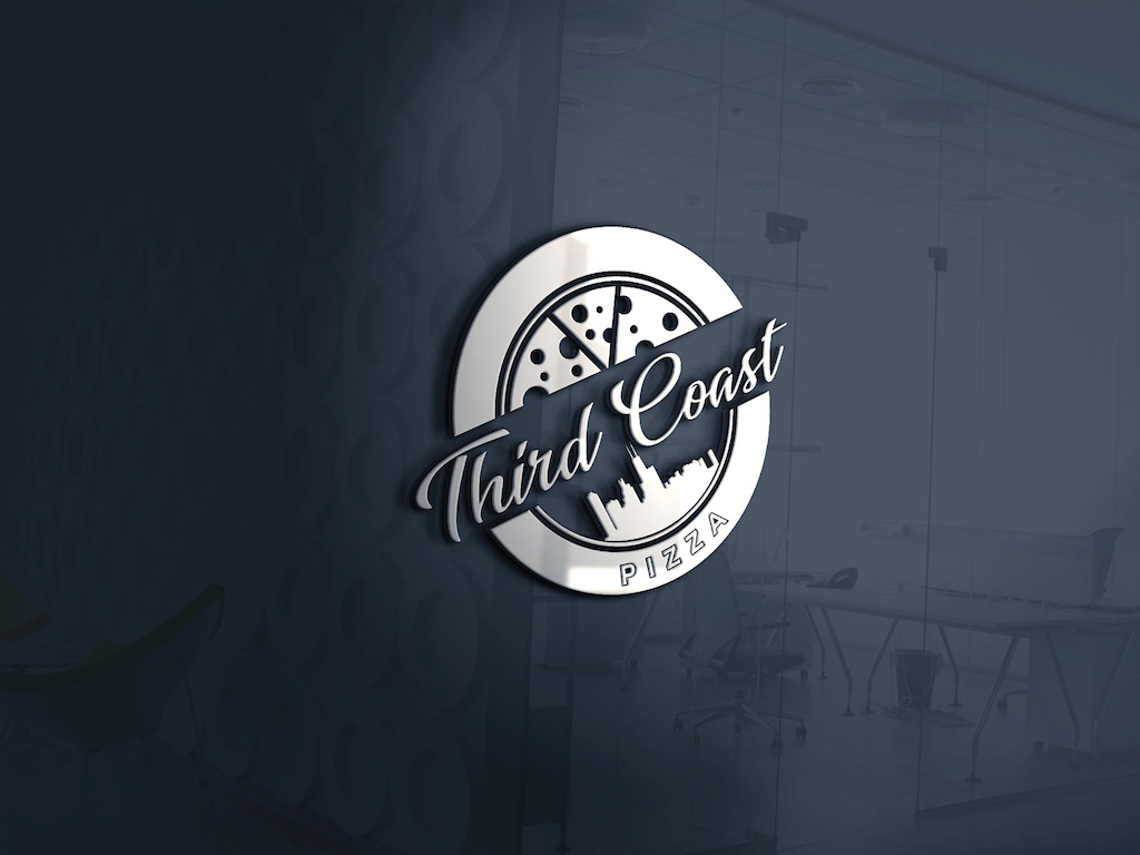 Third Coast Pizza Mockup white logo