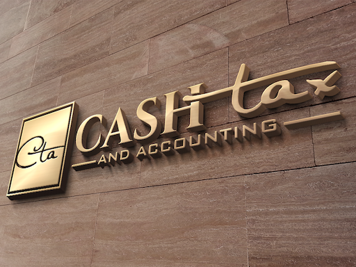 Small Cash Tax and Accounting Portfolio logo mockup