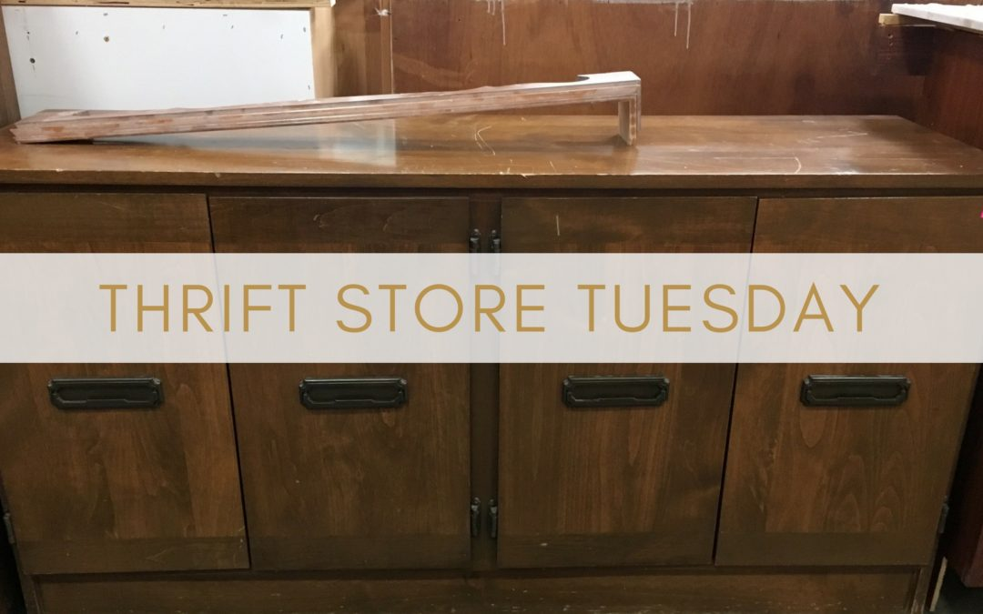 Thrift Store Tues. Ep.7- DIY Campaign buffet & $3 night stand makeover inspiration