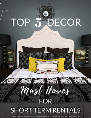 downloadable, pdf, top 5 decor, vacation rentals, freemium, opt in, marilynn taylor, short term rentals