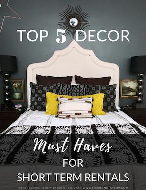 downloadable, pdf, top 5 decor, vacation rentals, freemium, opt in, marilynn taylor, short term rentals