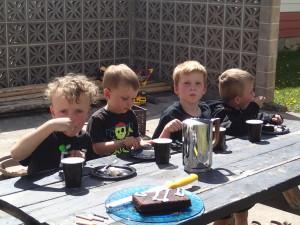 Birthday party for Ezra