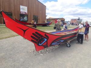 Cedar canoe handmade out of a 250 year old cedar log