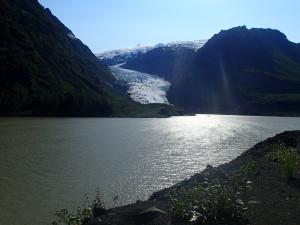 Glacier along Cassiar Hwy