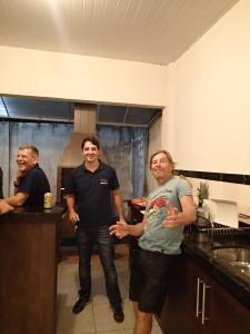 John (Alabama), our host Rodolfo and John (from Britain)