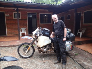 Frank and his trusted 85 BMW R100GS