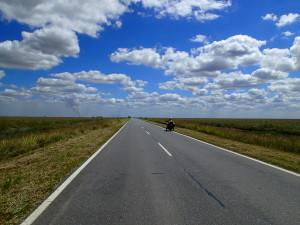Endless sky over the agricultural landscape