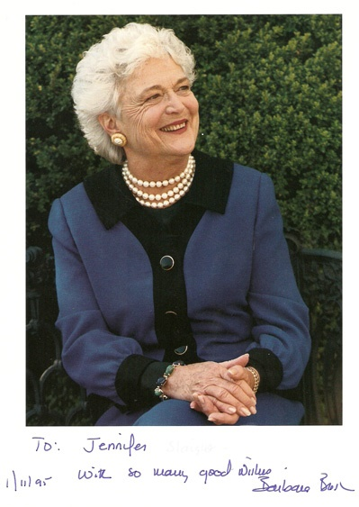Barbara Bush was a great supporter of family literacy. Here she is, near the tennis courts on th4e south lawn of the white house. Little did I know that one day I would be hanging out, on that very same tennis court, watching my daughter get tennis lessons.