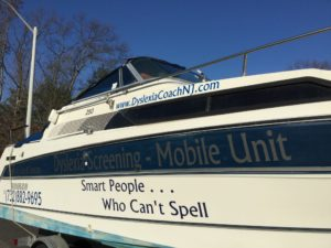 Dyslexia Screening Mobile Unit Boat for smart people who cant spell