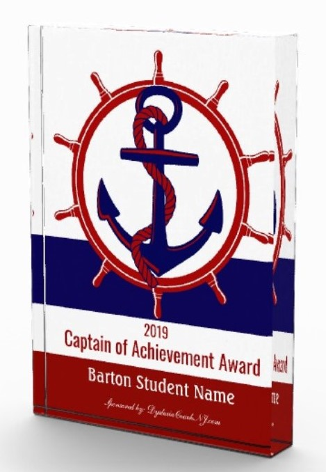 Captain of Achievement Award 2019 for dyslexia