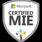 Microsoft certified MIE badge