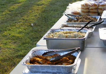 Food at Tailgate