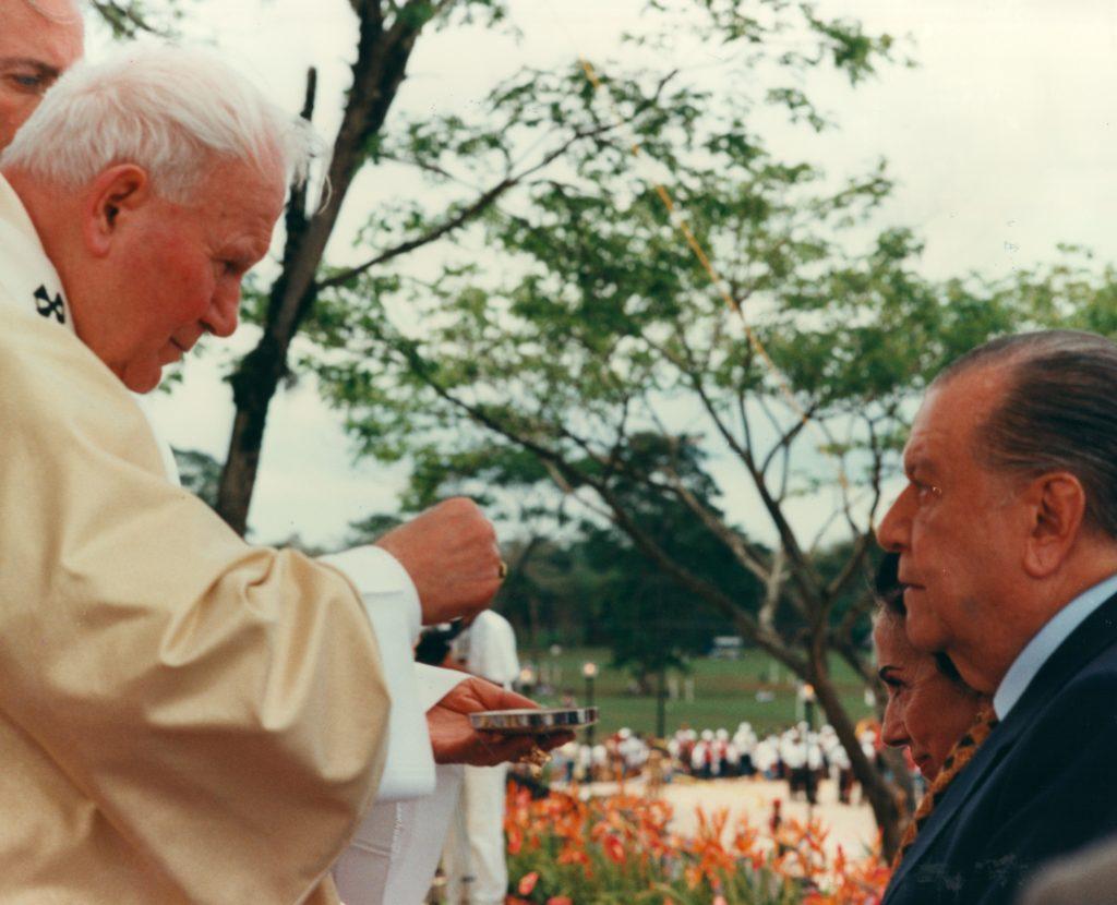 Papa Juan Pablo II, Alicia Pietri y Rafael Caldera