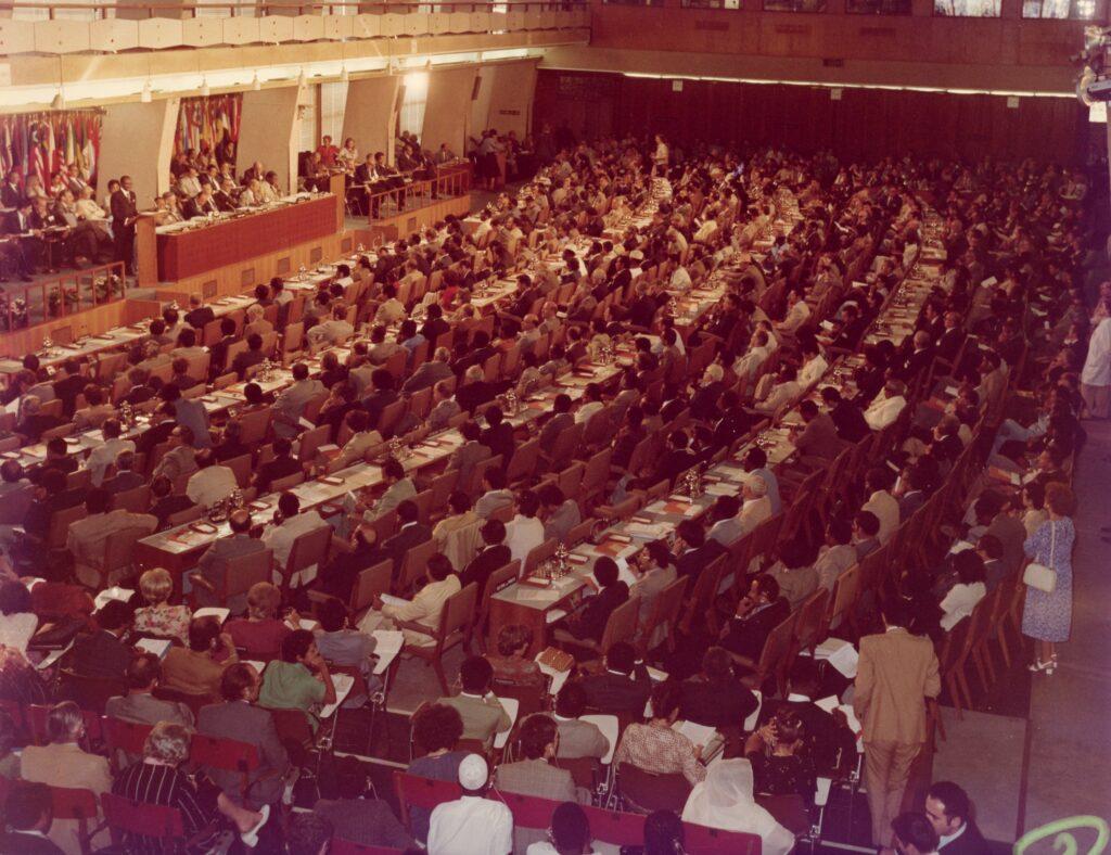 Conferencia mundial sobre Reforma Agraria y Desarrollo Rural, en Roma, Italia, el 12 de julio de 1979.