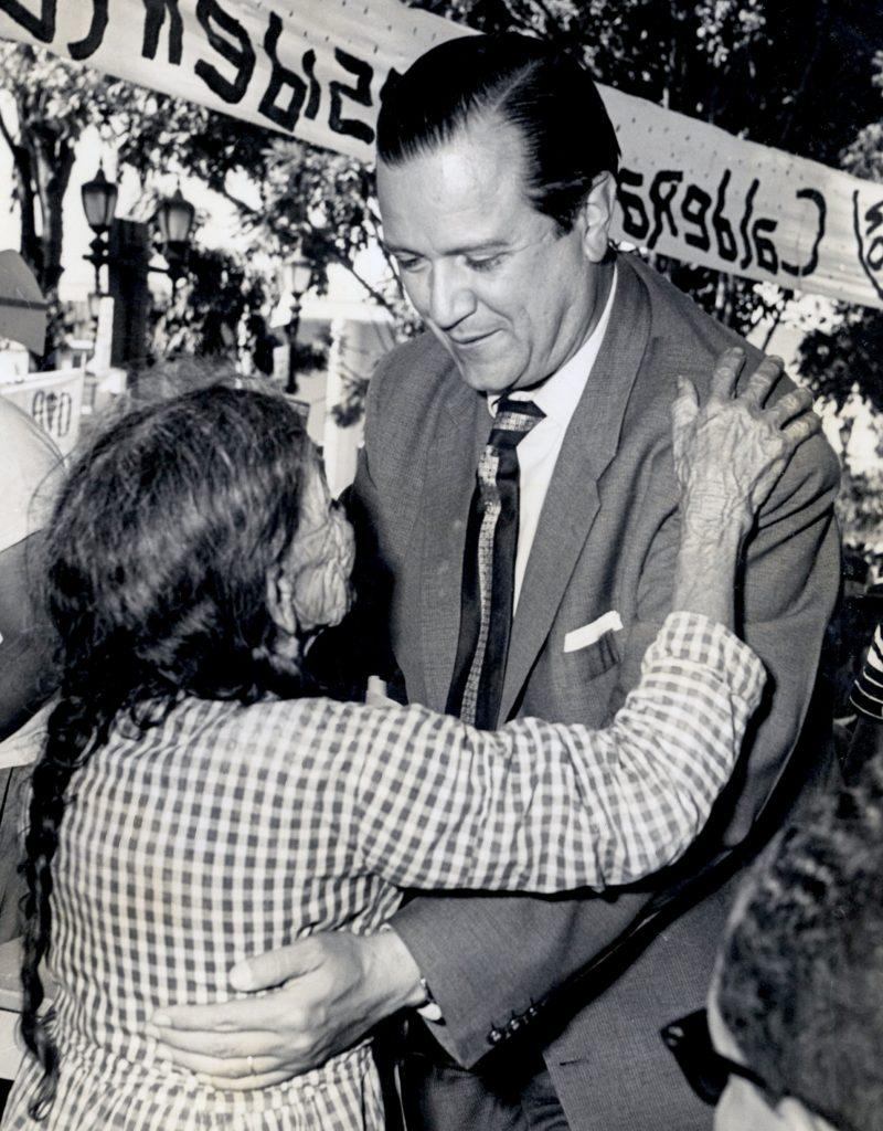 Rafael Caldera en Nirgua, Yaracuy, 1958.