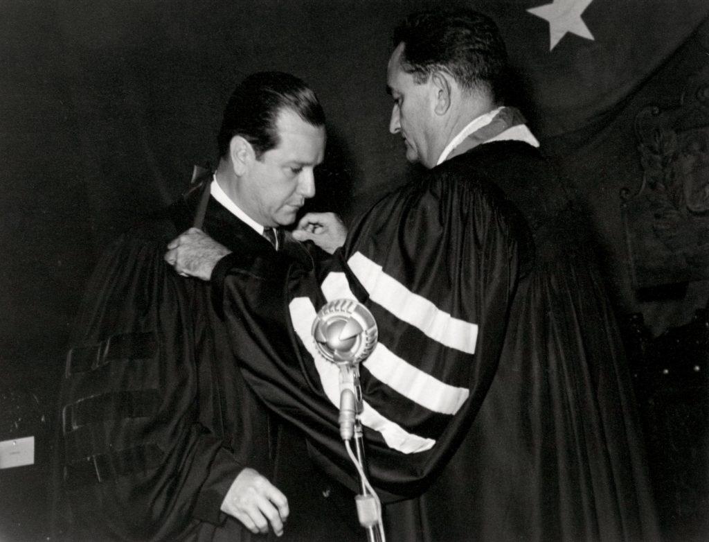 Rafael Caldera en la Universidad del Zulia, 1958.