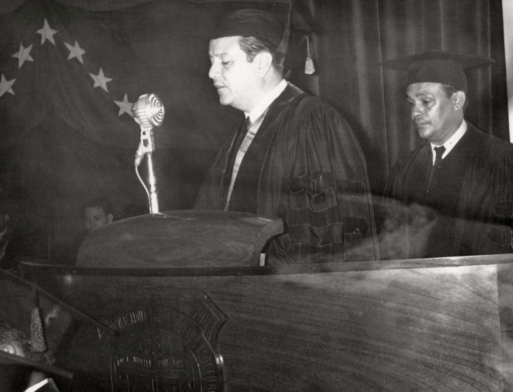 Rafael Caldera y Nectario Andrade Labarca.