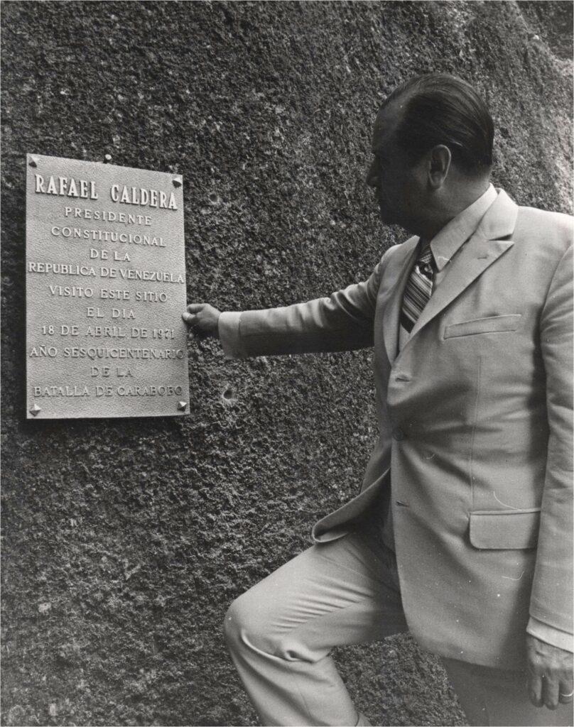 Rafael Caldera en la Piedra del Cocuy, Amazonia venezolana