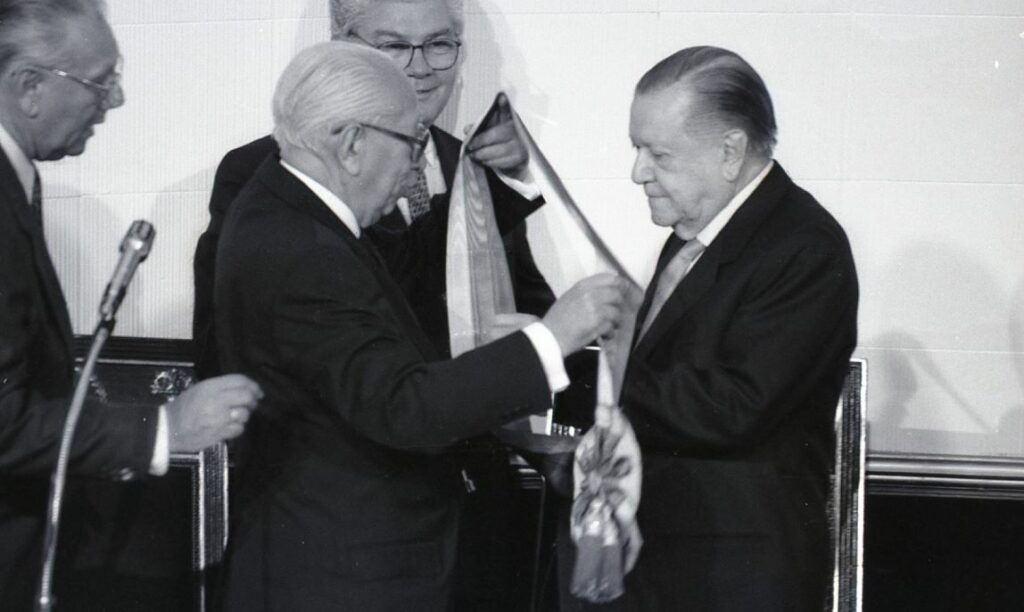 Banda presidencial Rafael Caldera, 1994.