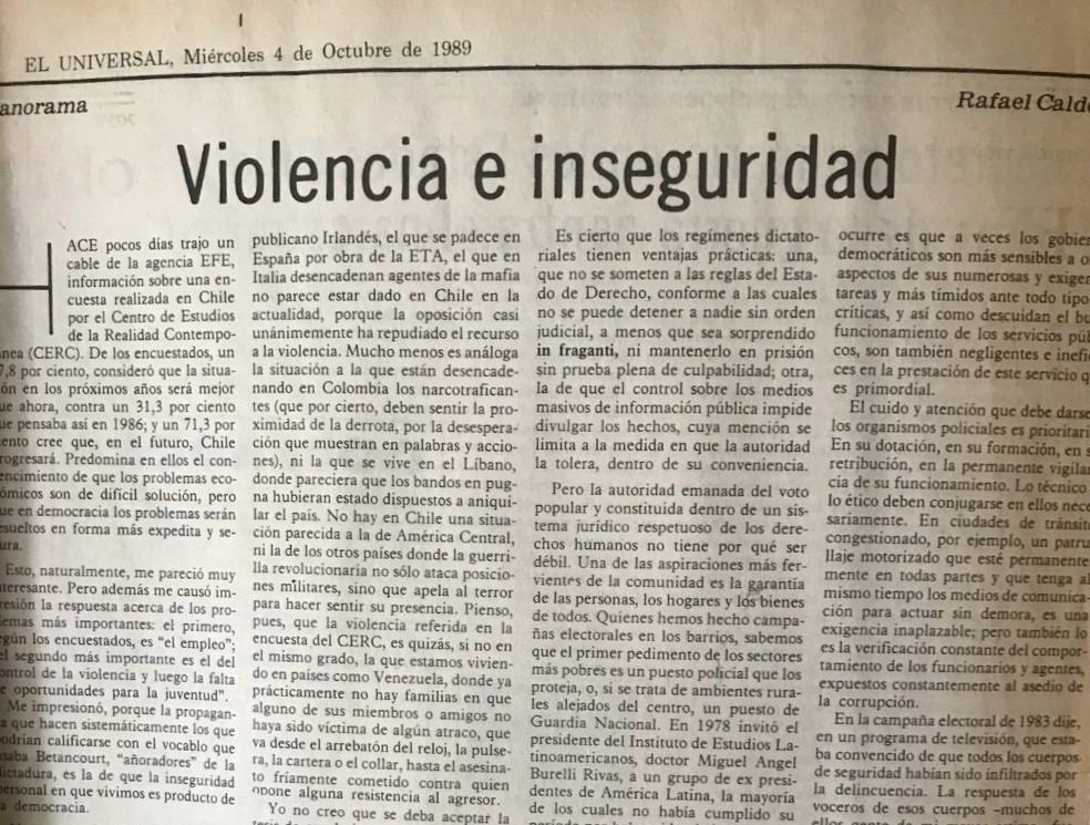 Violencia e inseguridad