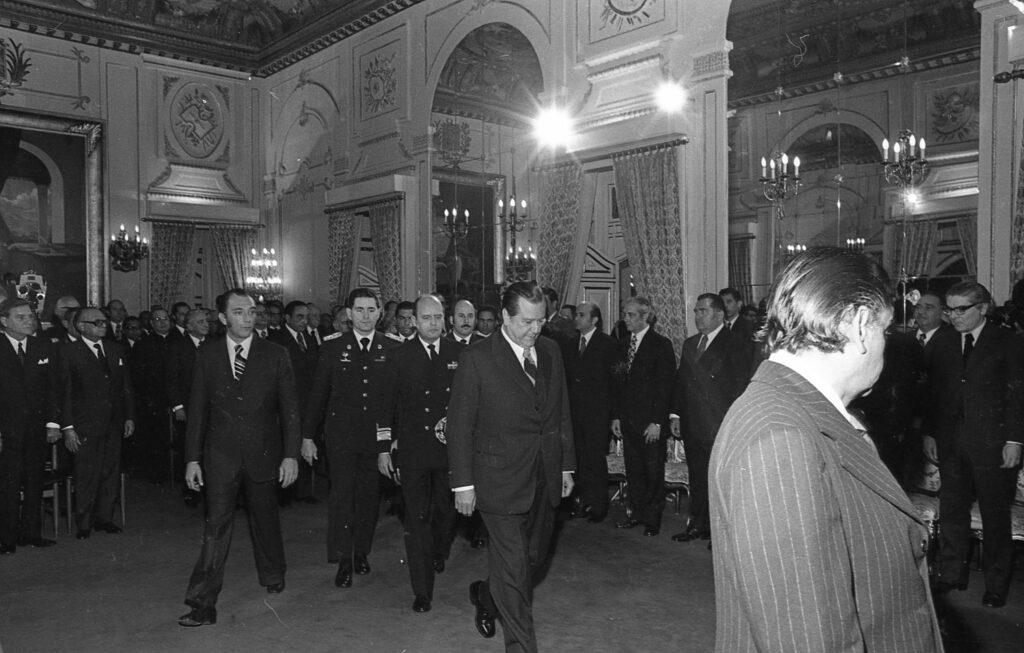 Año Nuevo Palacio de Miraflores Rafael Caldera 1974