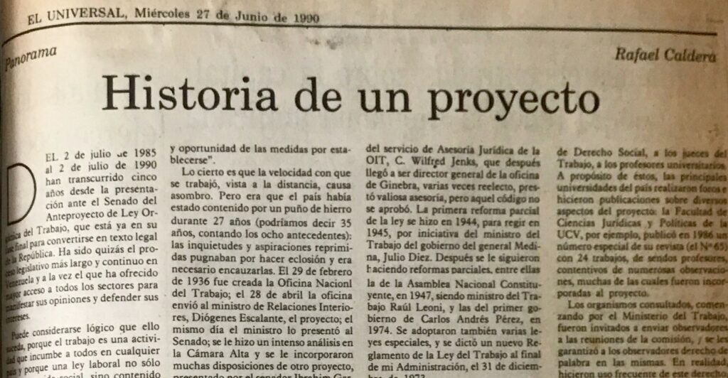 historia de un proyecto