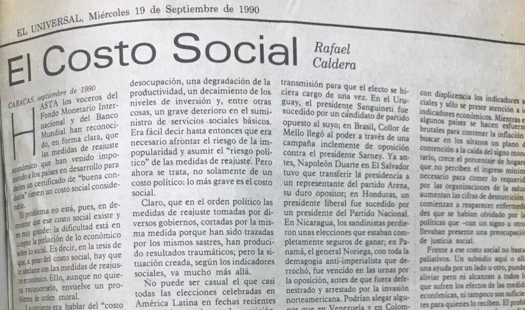El costo social