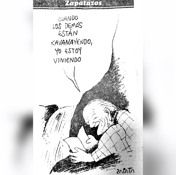 Pedro León Zapata dibuja a Rafael Caldera en la Gran Sabana