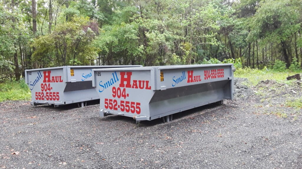 Dumpster drop-off by Small Haul Dumpster Service