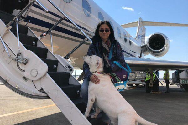 上私人飛機with regina