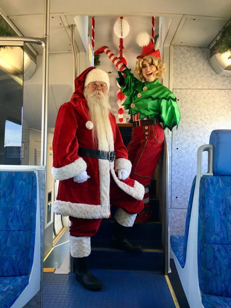 San Diego santa rides the coaster