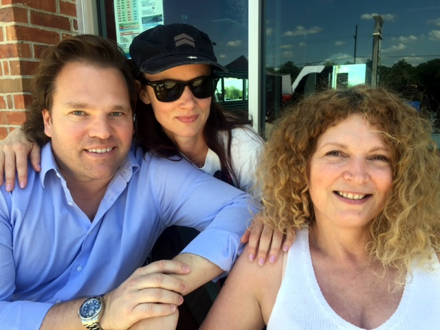 Back Roads producer, Michael Ohoven, Juliette Lewis (Harley's Mom), and Tawni O'Dell (Back Roads Author) hanging out on the set.