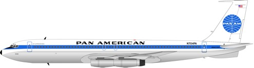 """IF707PAA0917 Pan Am Boeing 707-300 """"Jet Clipper Defiance"""" N704PA"""