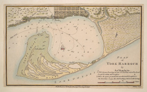 Map of York Harbour from 1797-1815 as commissioned by John Graves Simcoe.