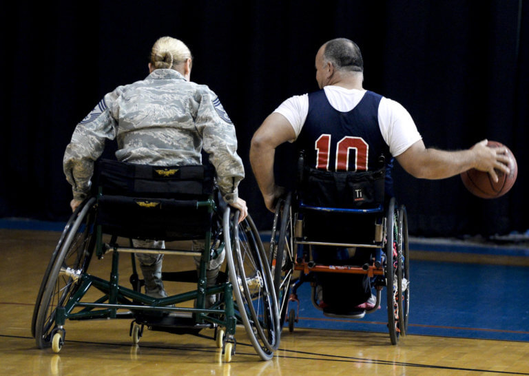 wheelchair bound athletes